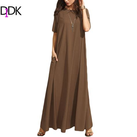 Sale Brown Casual Dress buy wholesale solid brown dress from china solid