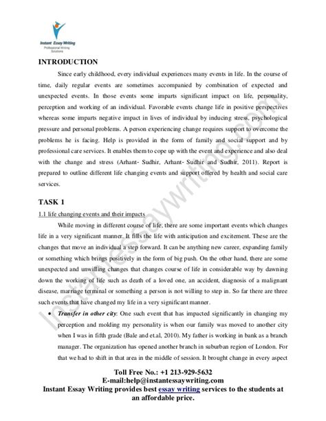 Changing Experience Essay by Essay About Changing Experience
