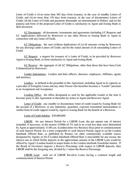 Letter Of Credit Expiration Date ii 7 4 other collateral