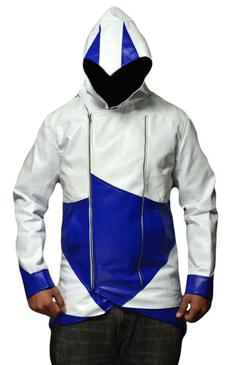 Jaket Assassin Creed 2 assassin s creed blue and white jacket
