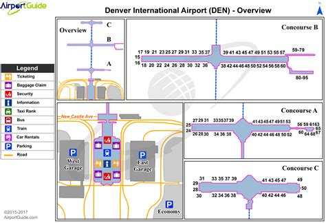 denver international airport map denver denver international den airport terminal maps travelwidget