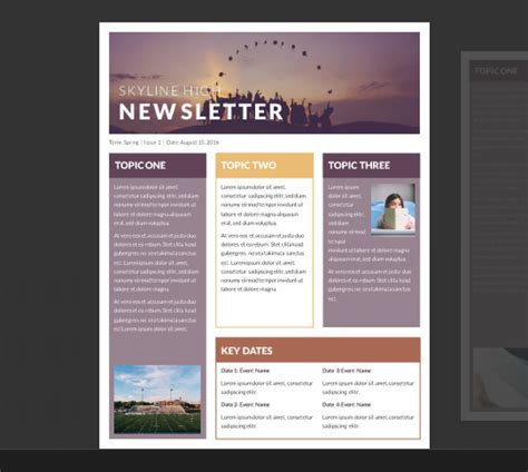 microsoft newsletter templates free free school newsletter templates for word invite