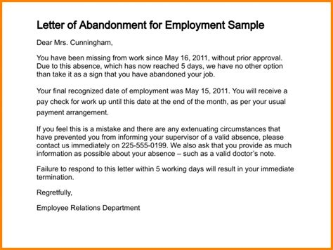 abandonment letter sle letter of abandonment for rental property 52 1 png letter