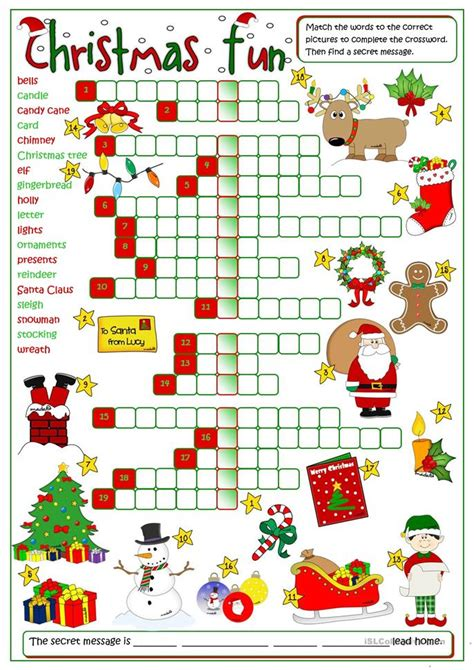 christmas activities for new students crossword worksheet free esl printable worksheets made by teachers