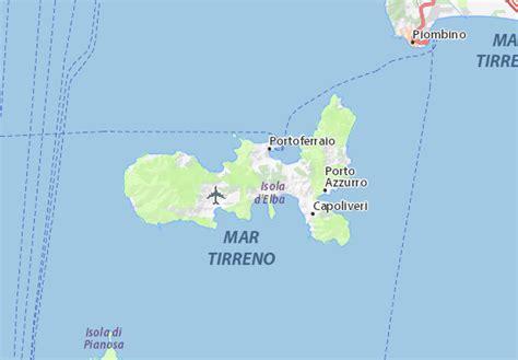 isola d elba mappa isola d elba cartina isola d elba viamichelin