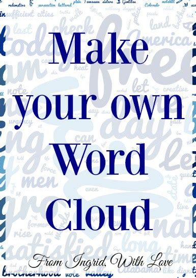 word art design your own the 25 best make a word cloud ideas on pinterest word