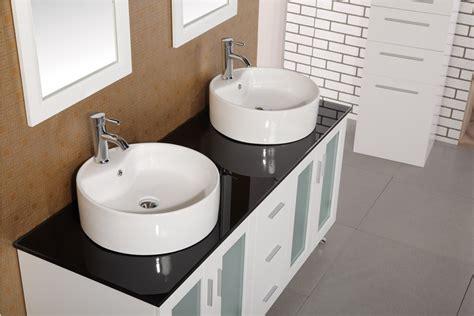 Sink On Top Of Vanity by Adorna 60 Quot Vessel Sink Bathroom Vanity Set In White