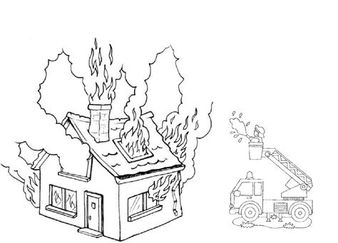 coloring page of house on fire house on fire page coloring pages
