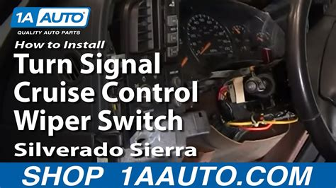replace combination switch   gmc sierra  youtube