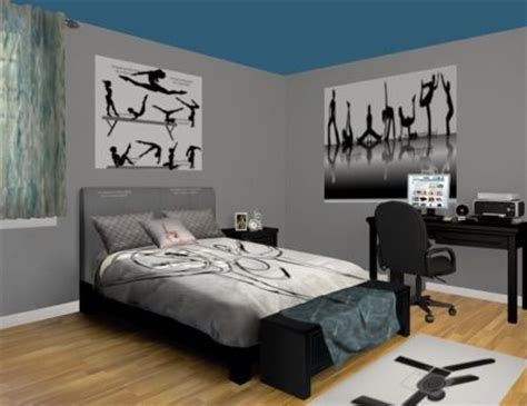 gymnastics themed bedrooms gymnastics wall murals a competition in stylish decor