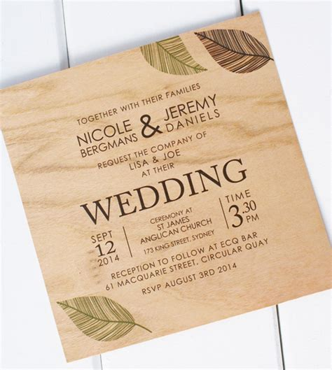 wood wedding invitations wooden wedding invitations from poppiseed designs polka