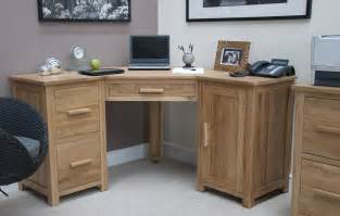 Small Oak Corner Computer Desk Uk Browns Furniture Congleton Home Office