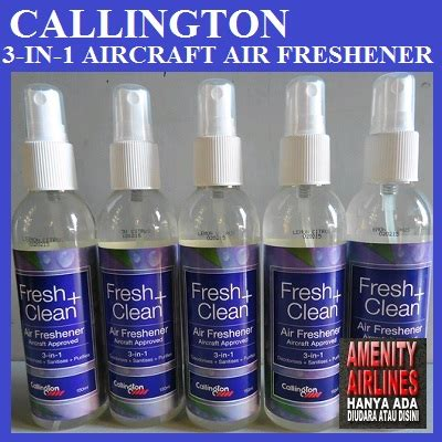 Parfum Pesawat Callington 3 In 1 Spray Air Fresher Parfum Mobil baru parfum pesawat hitech aircraft air freshener 3 in 1 callington
