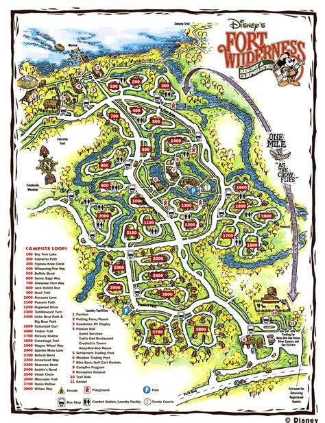 fort wilderness map cing info the stuff you need to fort wilderness walt disney world orlando fl