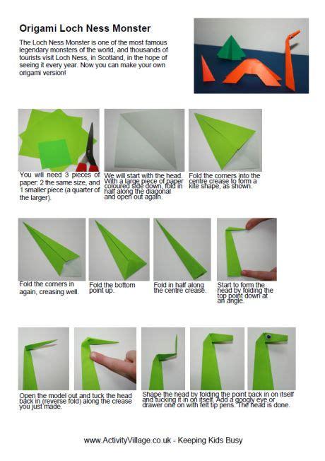 Origami Loch Ness - origami loch ness