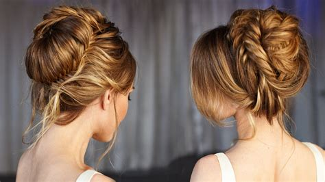 Medium Hairstyles For Black Tutorials by Wedding Updo Prom Hairstyles Hair Tutorial