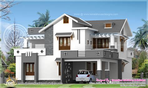 New Kerala House Plans by Modern 214 Square Meter House Elevation Kerala Home