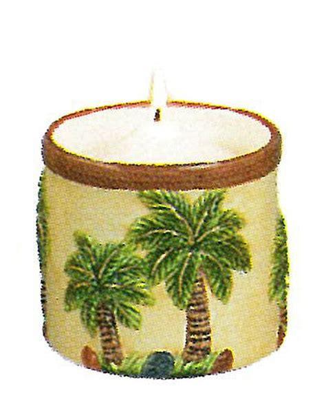 Palm Tree Kitchen Decor by Palm Kitchen Decor Candle Light Holder Palm Tree Ceramic 5471n Palm Trees Kitchen Decor