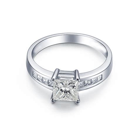 1 carat princess cut engagement ring jewelocean