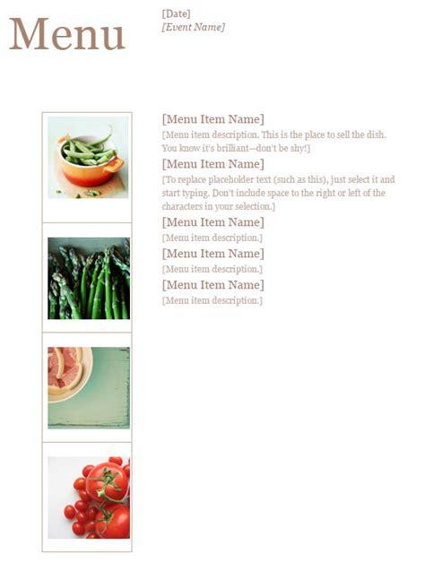 event menu template 187 template haven