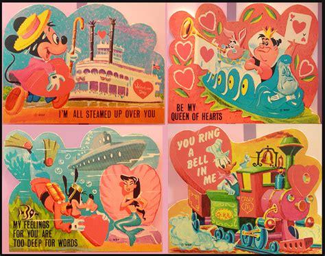 valentines card disney disney vintage disneyland 1950s donald duck valentines