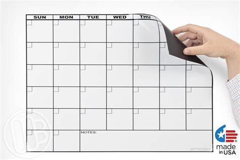 Erase Calendars Magnetic Refrigerator Calendar