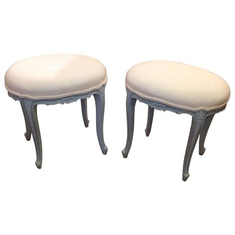 very ottoman very pretty pair of french oval stools ottomans for sale