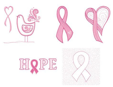 pink ribbons and a free download weallsew