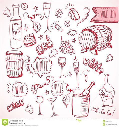 doodle vintage wine sketch and vintage doodles stock vector image 49629570