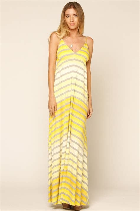 eight sixty yellow striped maxi dress from marina by y i