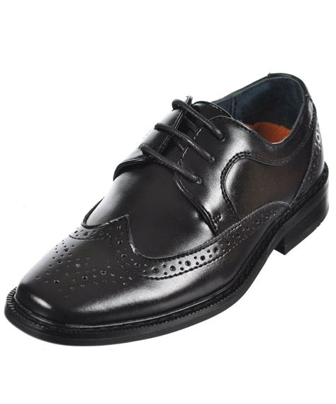 Dress Shoe For Boy by Goodfellas Boys Quot Brogue Wingtip Quot Dress Shoes Toddler Sizes 9 12 Ebay