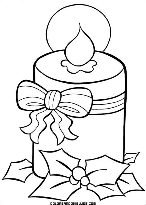 dibujos de navidad para colorear de velas vela de navidad