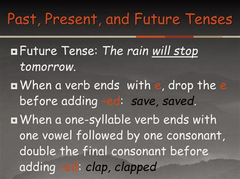 tenses present tense past tense future tense illustrated books ppt author stephen kramer genre expository