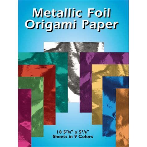 Metallic Origami Paper - metallic foil origami paper 5 7 8 quot x5 7 8 quot 18 pkg