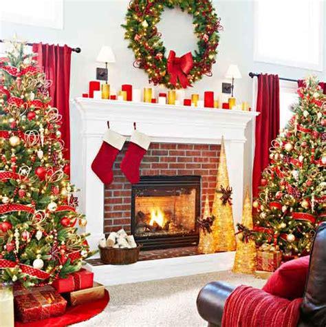 beautiful christmas fireplace decorating ideas