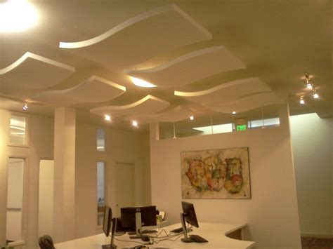 acoustic panels hanging from ceiling office inspiration
