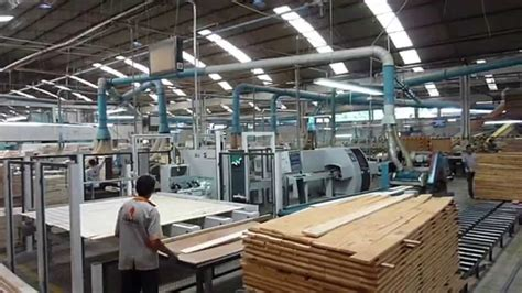 woodworking factory production of solid wood furniture