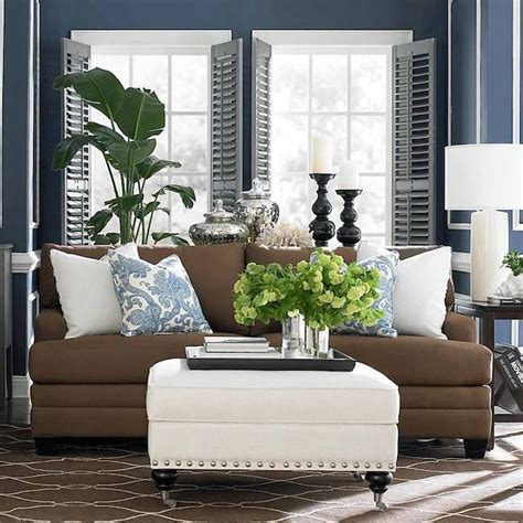 blue brown living room decor blue and brown living room decor pinterest