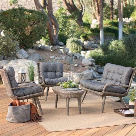 belham living rio  weather wicker conversation set seats  conversation patio sets