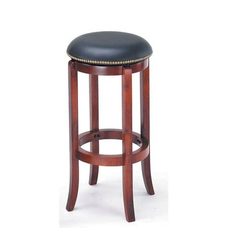 Nailhead Backless Bar Stools by 29 In Backless Swivel Bar Stool With Nailhead Trim
