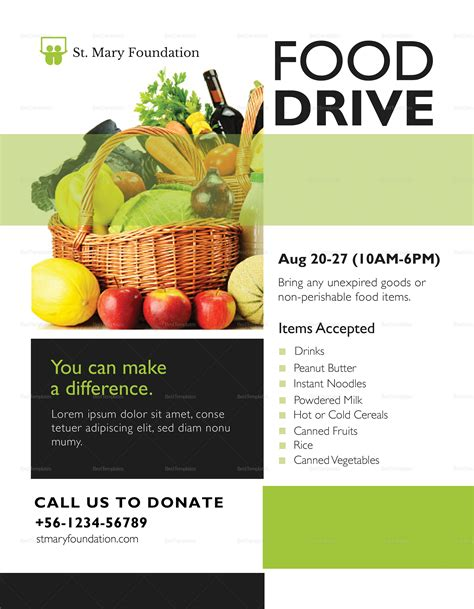 Food Drive Flyer Design Template In Psd Word Publisher Illustrator Indesign Food Drive Flyer Template