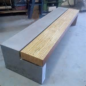 Concrete and wood bench modern accent and storage benches denver