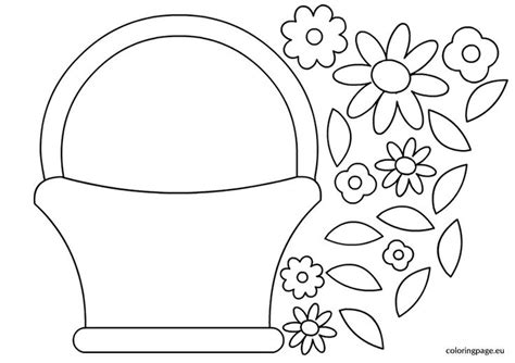 printable basket with flowers best photos of flower basket template make paper easter