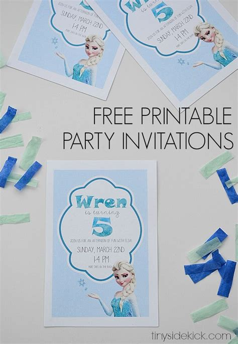 printable frozen invitations free printable frozen birthday party invitations party