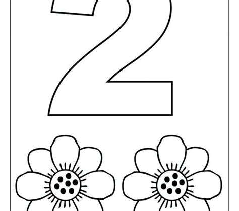 number 2 coloring page number 2 coloring pages for toddlers coloring page