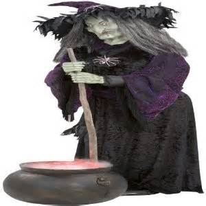witch with fogging cauldron animated halloween prop new ebay
