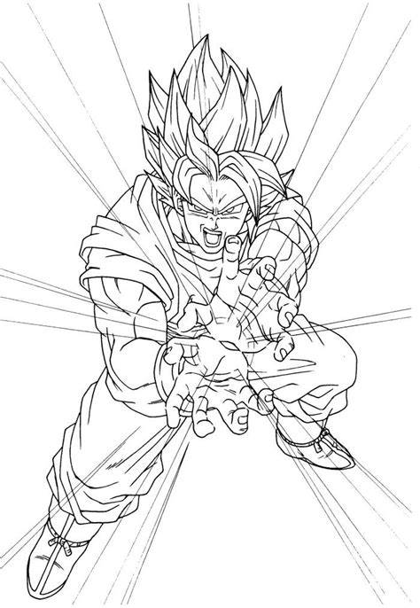 Coloring Page Goku by Goku Coloring Pages