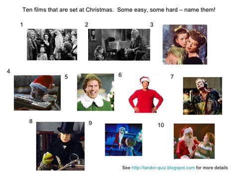 film pub quiz round christmas movies picture quiz