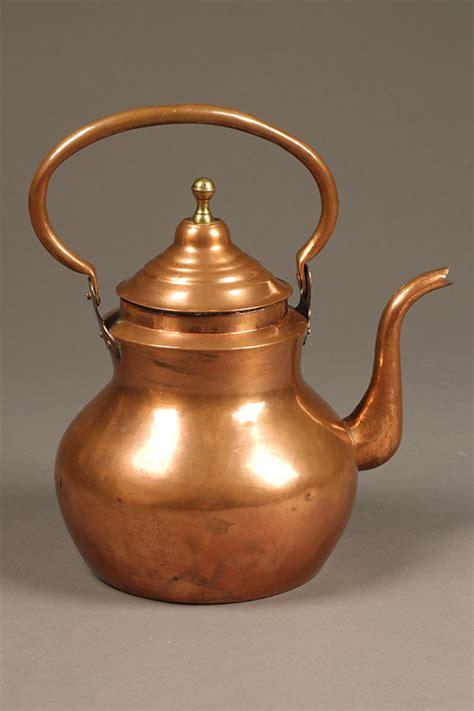 Antique Flemish Copper Teapot