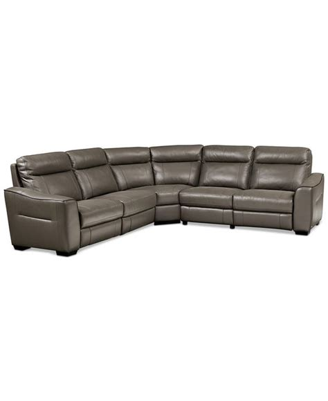 5 piece leather sectional sofa destin leather 5 piece sectional sofa with 3 power